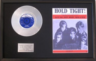 DAVE DEE,DOZY-----Platinum Disc&Song Sheet- HOLD TIGHT